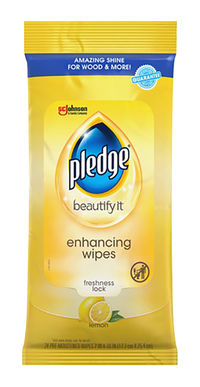 Image for Pledge Lemon Enhancing Polish Wipes, 7 Inch Width x 10 Inch Length - 24 / Each - White from School Specialty