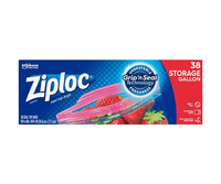 Image for Ziploc Gallon Storage Bags, Box of 38 from School Specialty