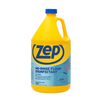 Image for Zep No-Rinse Floor Disinfectant, 128 Fluid Ounces, Carton of 4, Blue from School Specialty