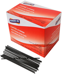 Image for Genuine Joe Plastic Stirrers, 5-1/2 Inches, Black, Box of 1000 from SSIB2BStore