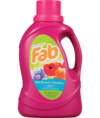 Image for Fab Liquid Laundry Detergent. 60 Fluid Ounces Wildflower Medley Scent from School Specialty