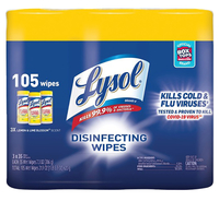Lysol Disinfecting Wipes 3 pack, Item Number 2050480