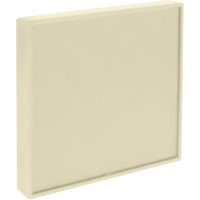 Image for Lorell Snap Plate Architectural Sign, 4 x 4 x 3/5 Inches, Almond from School Specialty
