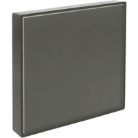 Image for Lorell Snap Plate Architectural Sign, 4 x 4 x 3/5 Inches, Warm Gray from School Specialty
