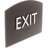 Image for Lorell Exit Sign, 4.5 x 6.8 x 0.5 Inches, Brown from School Specialty