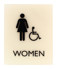 Image for Lorell Restroom Sign Beige from SSIB2BStore