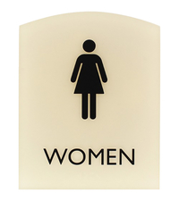 Image for Lorell Restroom Sign, 8.5 x 6.8 x 0.8 Inches, Beige from School Specialty