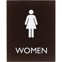 Image for Lorell Restroom Sign, 8.5 x 6.4 x 0.8 Inches, Brown from School Specialty