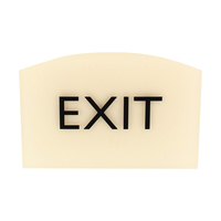 Image for Lorell Exit Sign, 4.5 x 6.8 x 0.5 Inches, Beige from School Specialty