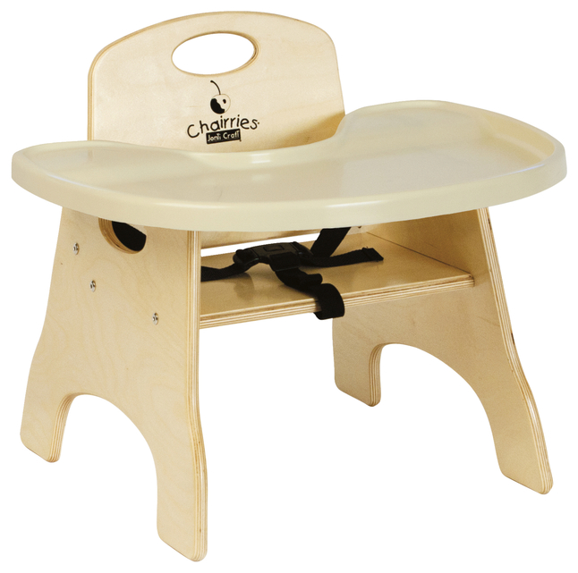 Image for Jonti-Craft Chairries High Chair with Trays, Assembled, 5 Inch Seat, Birch from School Specialty