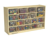 Childcraft Cubby Unit, 18 Clear Trays, 47-3/4 x 13 x 30 Inches Item Number 206044