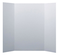 Image for Flipside Mini Tri-Fold Display Board, 14 x 22 Inches, White from School Specialty