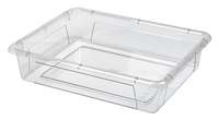 Image for School Smart Storage Tray, 10-3/4 x 13-1/4 x 3 Inches, Clear, Pack of 5 from School Specialty