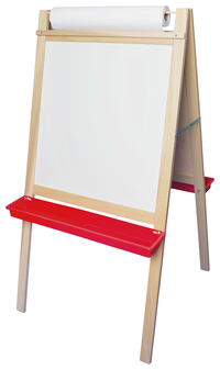 Image for Deluxe Magnetic Paper Roll Easel, Black Chalk/White Markerboard, 24 x 10 x 48 Inches from SSIB2BStore