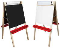 Image for Adjustable Paper Roll Easel, Black Chalk/White Markerboard, 24 x 10 x 48 Inches from SSIB2BStore