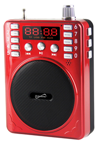 Image for SuperSonic Bluetooth Portable PA System, Red from School Specialty
