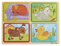 Image for Natural Play Wooden Puzzle: Playful Pals, 11-3/4 x 8-3/4 Inches from School Specialty