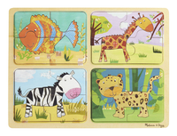 Image for Natural Play Wooden Puzzle: Animal Patterns, 11-3/4 x 8-3/4 Inches from School Specialty