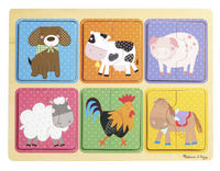 Image for Natural Play Wooden Puzzle: Farm Animals, 11-3/4 x 8-3/4 Inches from School Specialty