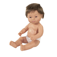 Image for Miniland Baby Doll Caucasian Boy with Down Syndrome, 15 Inches from School Specialty