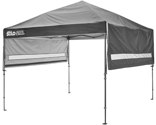 Image for Quik Shade Solo Steel 170 10 X 17 Ft. Straight Leg Canopy - Black from School Specialty