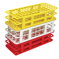 Image for Heathrow Fold and Snap Tube Rack 16mm 60-Place, Red from School Specialty