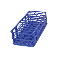 Image for Heathrow Fold and Snap Tube Rack 21mm 40-Place, Blue from School Specialty
