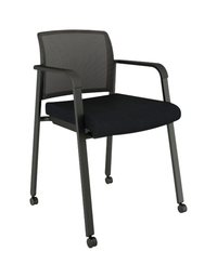 Image for AIS Paxton Side Chair With Casters, 23 x 21 x 32 Inches, Black from School Specialty