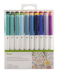 Image for Cricut Ultimate Pen Set, Fine Point, 0.4 mm, Assorted Colors, Set of 30 from SSIB2BStore