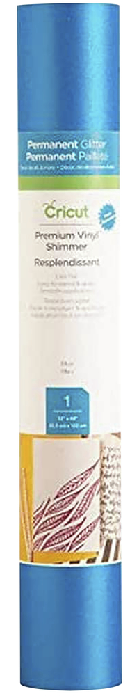Image for Cricut Permanent Adhesive Vinyl, 12 x 48 Inches, Light Blue Shimmer from SSIB2BStore