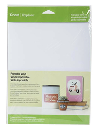 Image for Cricut Printable Adhesive Vinyl, 8-1/2 x 11 Inches, White, 10 Sheets from SSIB2BStore