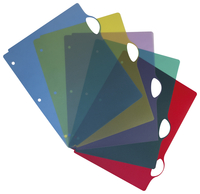 Image for Storex Poly Dividers, Set of 5 Assorted Colors, Pack of 25 from School Specialty