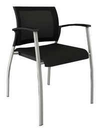 Image for AIS Grafton Side Chair, 23-3/4 x 23-1/2 x 32 Inches, Silver Frame from School Specialty