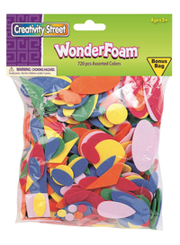 Wonderfoam Assorted Shape Decorating Foam, Assorted Size, Assorted Color, Pack of 720 Item Number