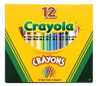 Crayola Standard Size Crayons in Tuck Box, Set of 12 Item Number 215007