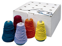 Sax Yarn Assortment Dispenser Box, Assorted Colors, Pack of 16 Item Number