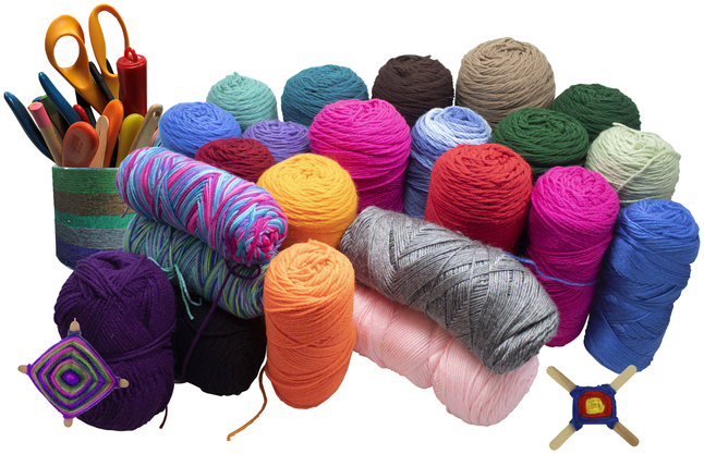 Yarn and Knitting and Weaving Supplies, Item Number 223239