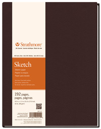 Strathmore 400 Series Sketchbook, 5-1/2 x 8-1/2 Inches, 60 lb, 96 Sheets Item Number 1289298