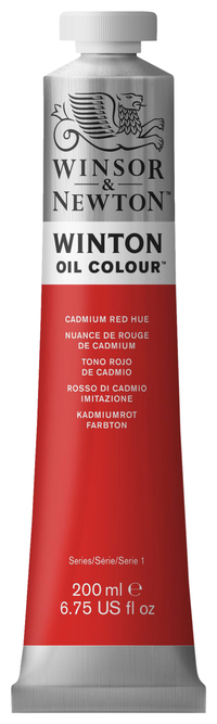 Winsor & Newton Winton Oil Color, 6.75 Ounce Tube, Cadmium Red Hue, Item Number 237879