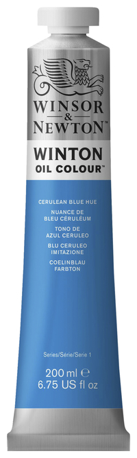 Winsor & Newton Winton Oil Color, 6.75 Ounce Tube, Cerulean Blue Hue Item Number 237891