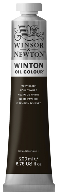 Winsor & Newton Winton Oil Color, 6.75 Ounce Tube, Ivory Black Item Number 237906