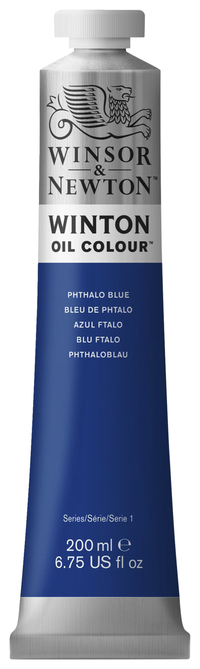 Winsor & Newton Winton Oil Color, 6.75 Ounce Tube, Phthalocyanine Blue Item Number 237918