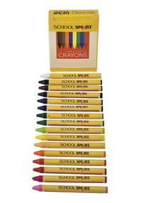 School Smart Crayons in Tuck Box, Assorted Colors, Pack of 16 Item Number 245949