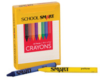 School Smart Non-Toxic Regular Crayon in Tuck Box, 5/16 X 3-1/2 in, Assorted Color, Pack of 16 Item Number 245949