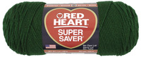 Red Heart Acrylic 4-Ply Dryable Machine Washable Economy Super Saver Yarn, Hunter Green, 7 oz Skein Item Number 246472