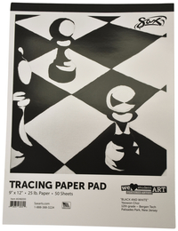 Sax Tracing Paper Pad, 25 lbs, 9 x 12 Inches, White, 50 Sheets Item Number 248200
