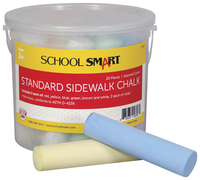 School Smart Sidewalk Chalk, 4 x 1 Inches, Assorted Colors, Pack of 20 Item Number 248431