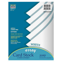 Array Card Stock Paper, 8-1/2 x 11 Inches, White, Pack of 100 Item Number 248962