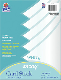 Array Card Stock Paper, 8-1/2 x 11 Inches, Assorted Pastel Colors, Pack of 100 Item Number 248959