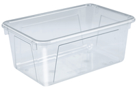 School Smart Storage Tote, 7-7/8 x 12-1/4 x 5-3/8 Inches, Clear Item Number 279061